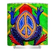 Peace Frog Too Shower Curtain