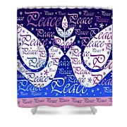 Peace Holiday Card Shower Curtain