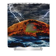 Peace In The Cleft In The Midst Of The Storm Shower Curtain