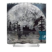 Peace In The Dark Shower Curtain