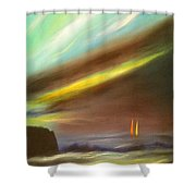 Peace Is Colorful - Vertical Painting Shower Curtain