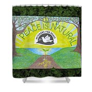 Peace Is Natural Shower Curtain