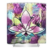 Peace, Love, Lotus Shower Curtain
