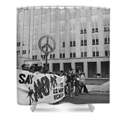 Peace March 1986 Shower Curtain