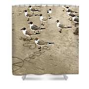 Peace On The Beach Shower Curtain