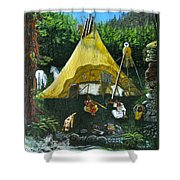 Peace Smoke At Sundown Shower Curtain
