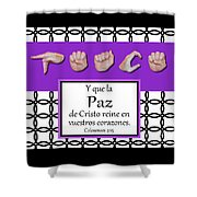 Peace Spanish - Bw Graphic Shower Curtain