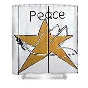 Peace Star Shower Curtain