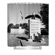 Peace Through Strength - Veterans War Memorial Shower Curtain