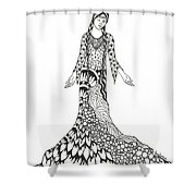 Peace Woman Wild Ink Shower Curtain