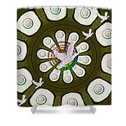 Peacedoves Bringing Peace To The Earth Shower Curtain