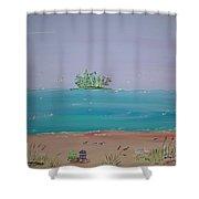 Peaceful Beach Shower Curtain