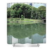 Peaceful Bridge In Tokyo Park Shower Curtain