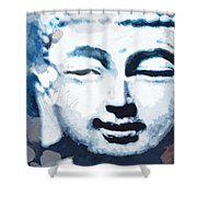 Peaceful Buddha 2- Art By Linda Woods Shower Curtain