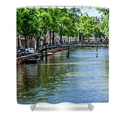 Peaceful Canal Shower Curtain