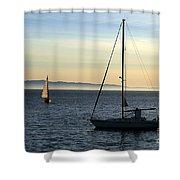Peaceful Day In Santa Barbara Shower Curtain