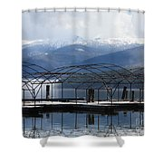 Peaceful Docks At Priest Lake Shower Curtain