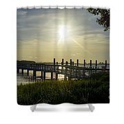Peaceful Evening At Cooper River Shower Curtain