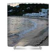 Peaceful Evening On Dawn Beach Shower Curtain
