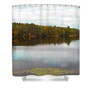 Peaceful Fall Day Shower Curtain