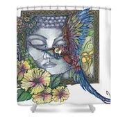 Peaceful Flight Shower Curtain