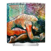 Peaceful Flow - Reclining Nude Shower Curtain