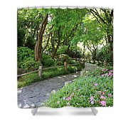 Peaceful Garden Path Shower Curtain