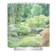 Peaceful Garden Space Shower Curtain