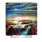 Peaceful Gathering Shower Curtain