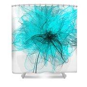 Peaceful Glow - Aquamarine Art Shower Curtain