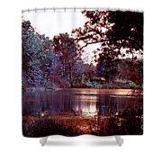 Peaceful In Infrared No1 Shower Curtain