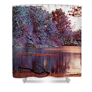 Peaceful In Infrared No2 Shower Curtain