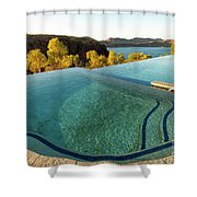 Peaceful Infinity Shower Curtain