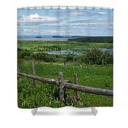 Peaceful Intrigue Shower Curtain