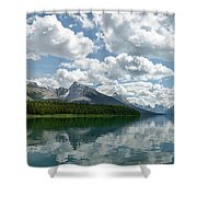 Peaceful Maligne Lake Shower Curtain
