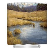 Peaceful Meanders Shower Curtain