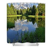 Peaceful Morning In Grand Teton Np Shower Curtain