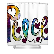 Peaceful Pasttimes Abstract Inspirational Art By Omaste Witkowsk Shower Curtain