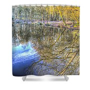 Peaceful Pond Reflections  Shower Curtain