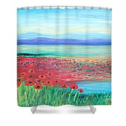 Peaceful Poppies Shower Curtain