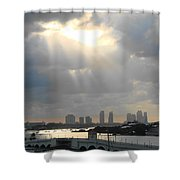 Peaceful Rays Of Sunshine Shower Curtain