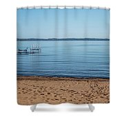 Grand Traverse Bay Beach-michigan  Shower Curtain