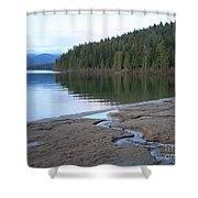 Peaceful Spring Lake Shower Curtain