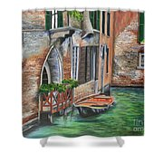 Peaceful Venice Canal Shower Curtain