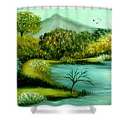 Peaceful  Waters 2 Shower Curtain