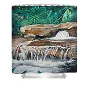 Peaceful Waters Flow Shower Curtain