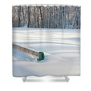 Peaceful Winter Snow Shower Curtain