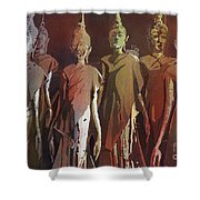 Peacefully Stacked Shower Curtain