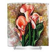 Peach Callas Shower Curtain