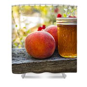 Peach Jelly Shower Curtain